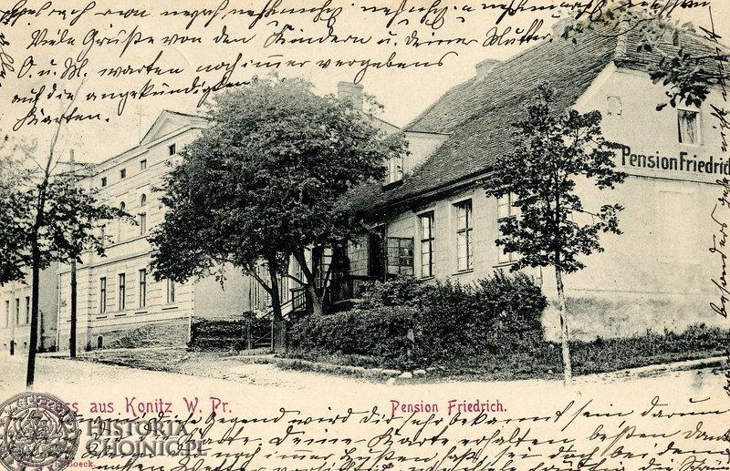 Fragment zabudowy przy ob. ul. Batorego. Ok. 1915 r.