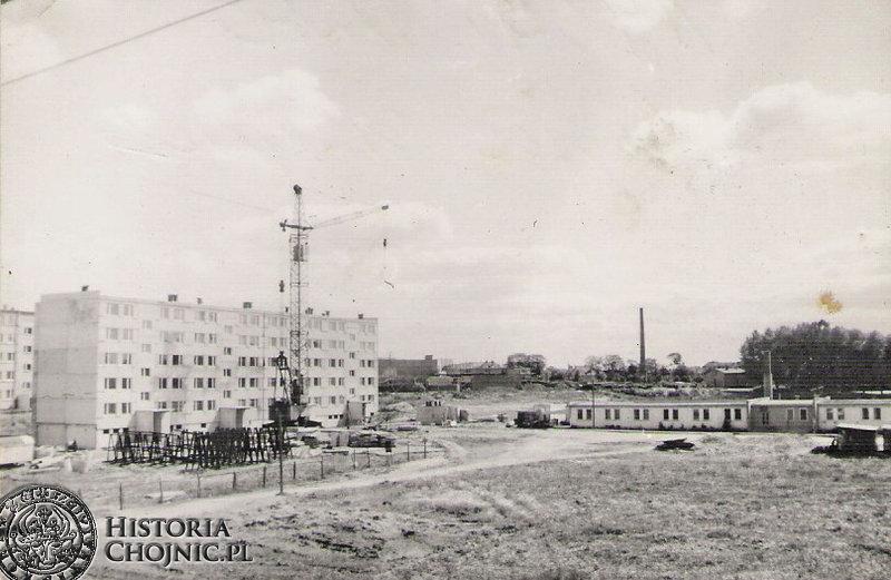 Budowa bloków na os. 700 - lecia.