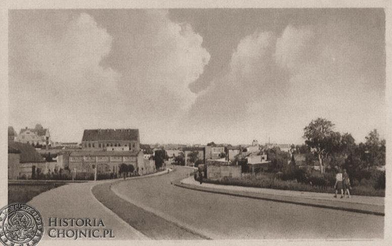 Widok na Chojnice z ul. Człuchowskiej. Ok. 1941 r.