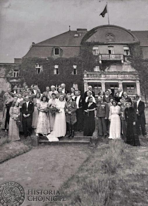 Ślub córki właściciela majatku w Zamartem H. von Parparta.