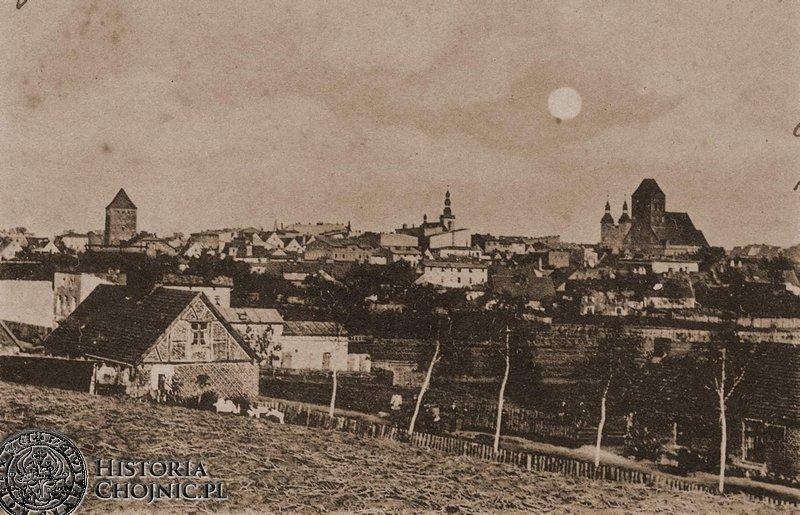 Widok na miasto od strony ulicy Prochowej.