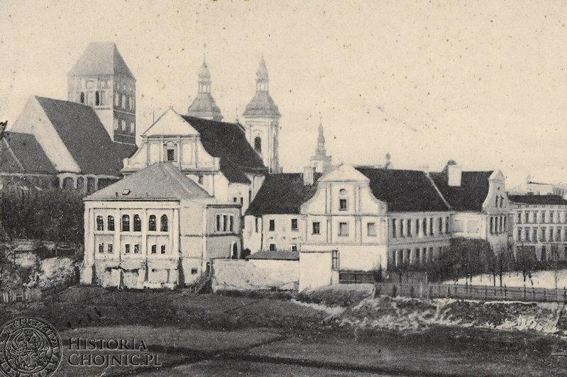 Zabudowania gimnazjum. Ok. 1910 r.