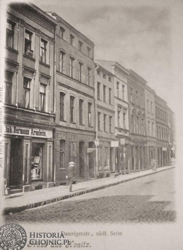 Kamienice przy dawnej ul. Gdańskiej. Ok. 1905 r.