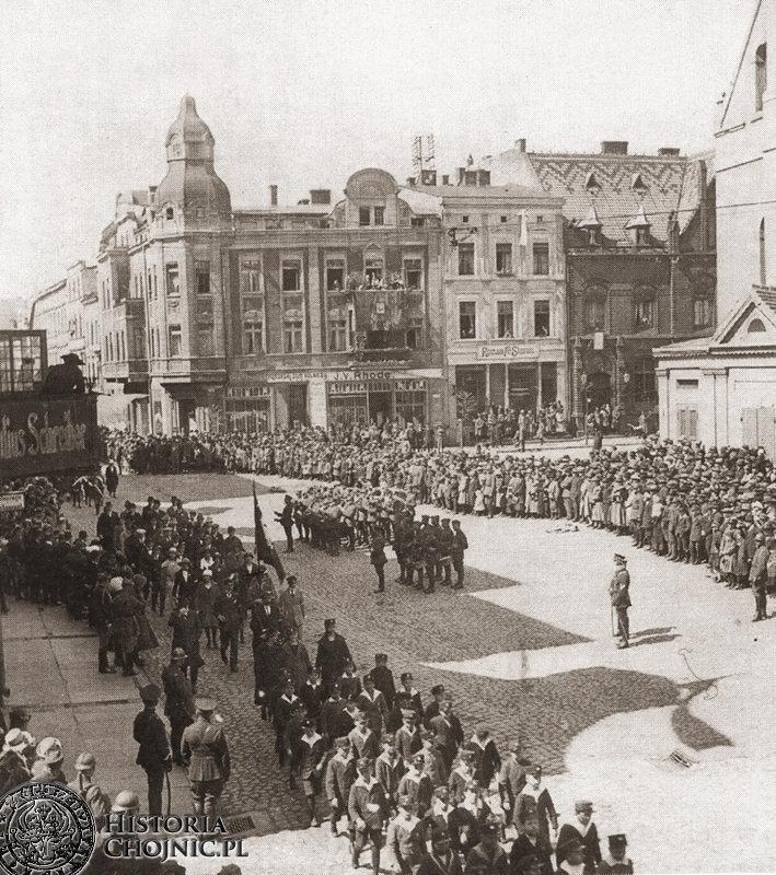 Uroczyste obchody święta 3 maja. 1923 r.