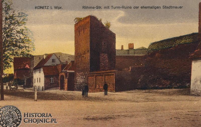 Fragment murów obronnych przy ul. Sukienników. Początek XX w.