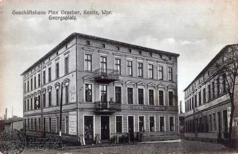 Kamienica przy pl. św. Jerzego. Ok 1910 r.