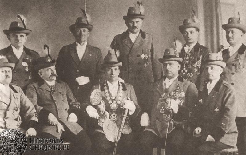 Zarząd Bractwa Kurkowego. Ok. 1938 r.