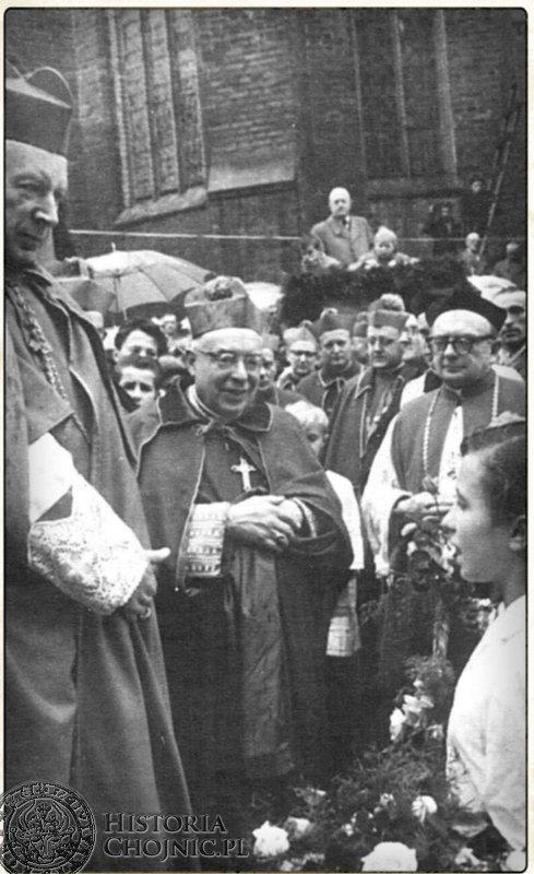 Wizyta kard. S. Wyszyńskiego w Chojnicach.1961 r.