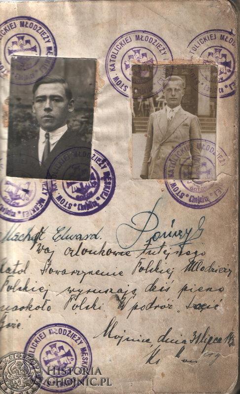 Pierwsza strona pamiętnika z wędrówki po Polsce w 1930 r.