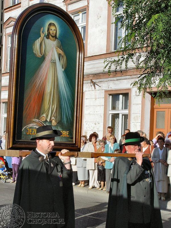 Chojnickie parafie nawiedził obraz Jezusa Miłosiernego.