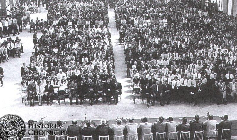 Uroczystość z okazji oddania Mostostalu. 1973 r.