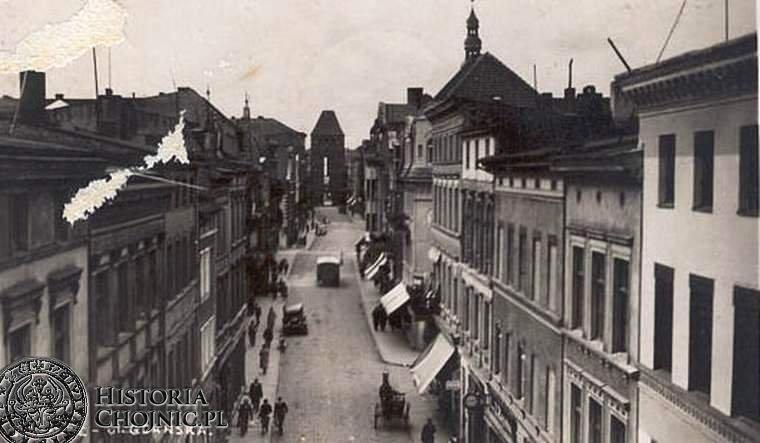 Widok na dawną ulicę Gdańską i Człuchowską.