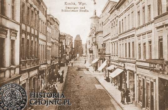 Widok na dawną ulicę Gdańską.