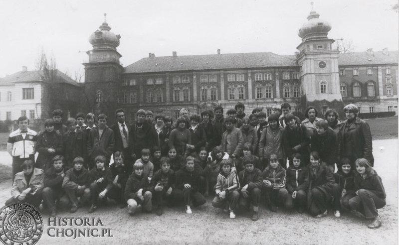 Na wycieczce w Łańcucie - 1980 r.