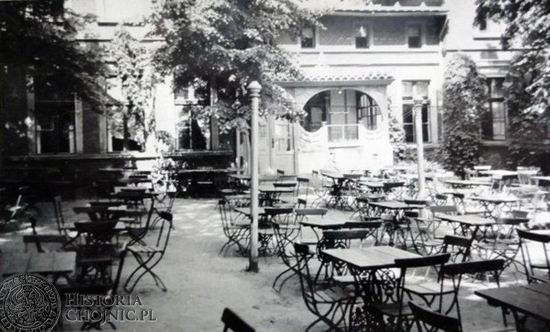 Ogródek letni restauracji Wilhelminka, ok 1940 r.