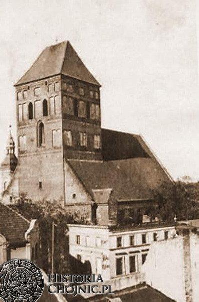 Widok na kościół farny. Ok. 1919 r.