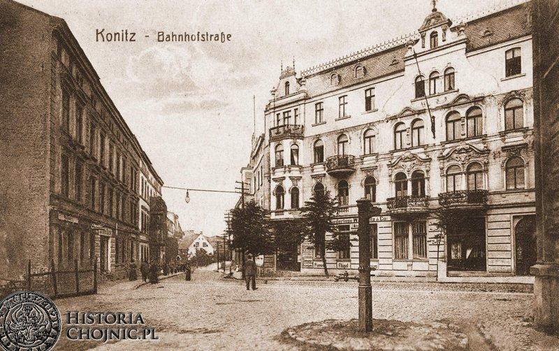 Kamienice przy ul. Dworcowej.