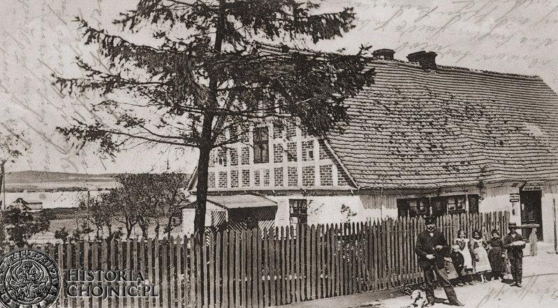 Charzykowy - przed gospodą O. Hinza. Ok. 1905 r.