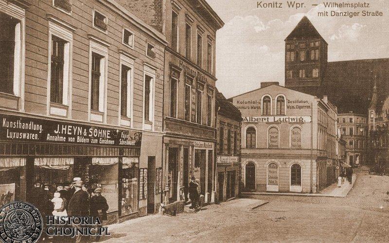 Zaklad znanego chojnickiego fotografa Heyna przy Wilhelmsplatz. Początek XX w.