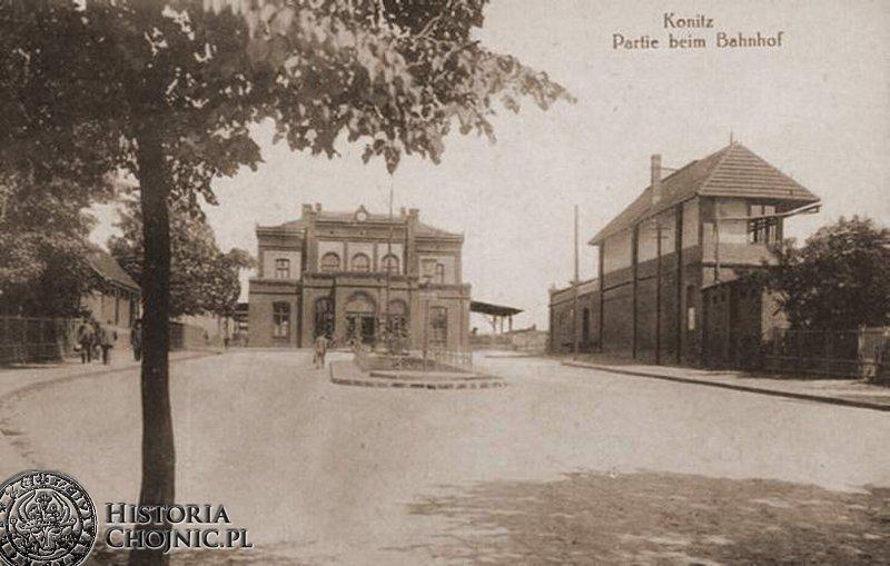 Dworzec kolejowy. Ok. 1910 r.