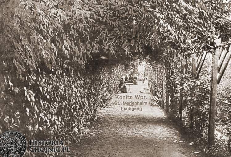 Ogród w zakladzie. św. Boromeusza. Ok. 1915 r.