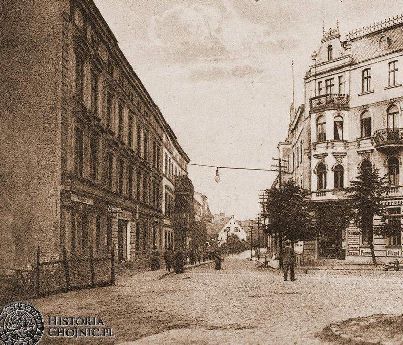 Ulica Dworcowa. Początek XX w.