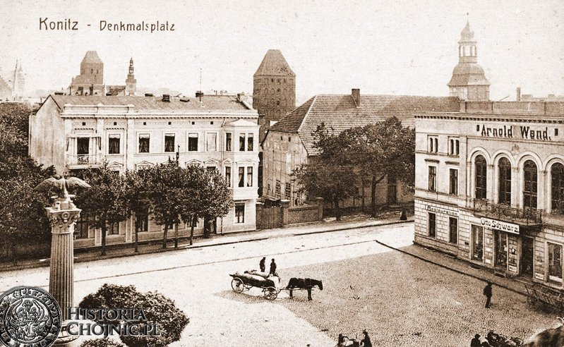Plac Jagielloński. Widoczny kościół p.w. św. Ducha.