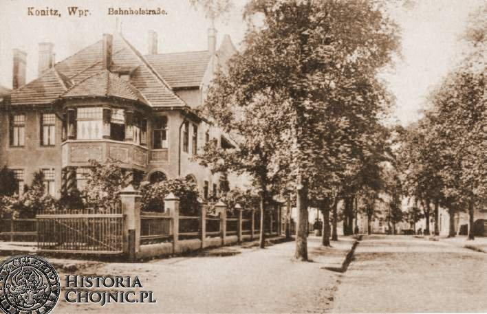 Ulica Dworcowa. Ok. 1915 r.