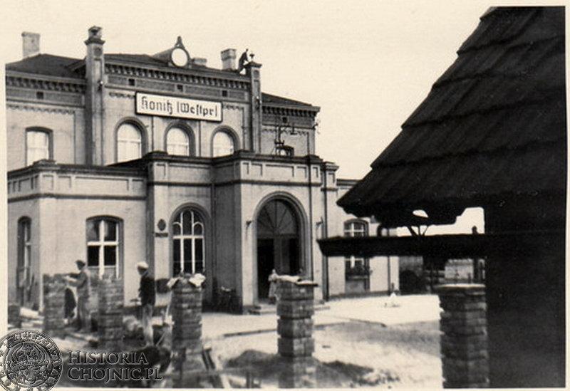 Dworzec w Chojnicach - 1941 r.