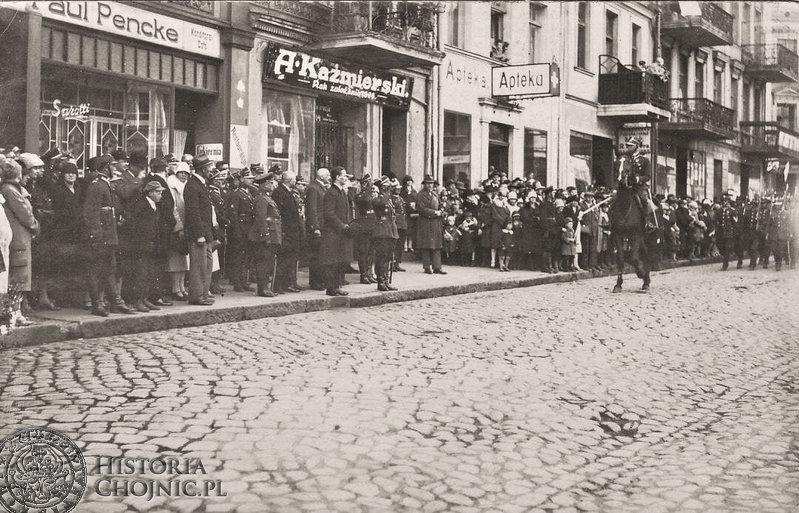 Chojnice - rynek. 3 maja 1928 r.