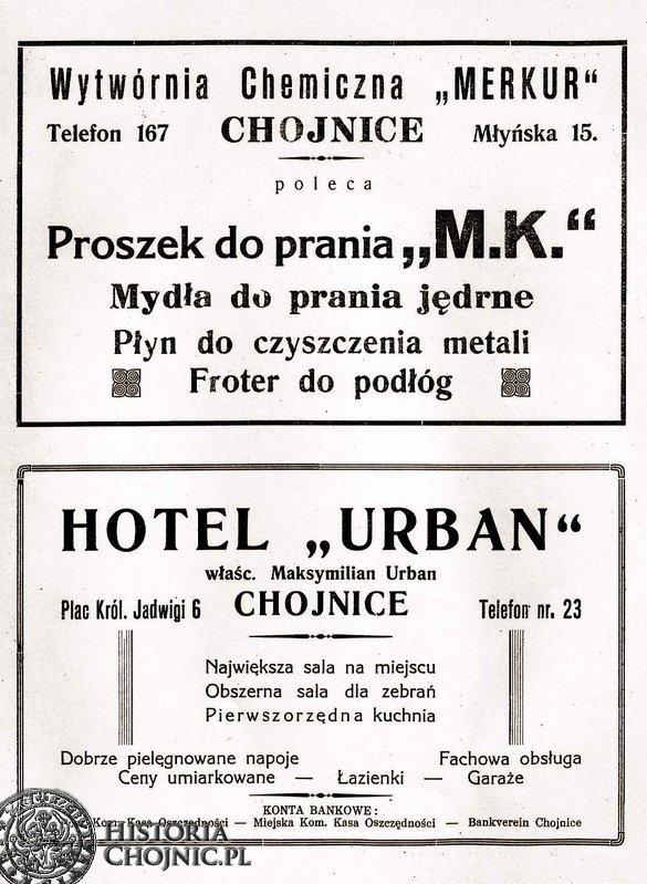 Reklama z lat międzywojennych.