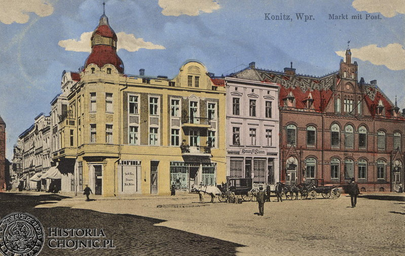 Kamienice przy rynku. Ok. 1910 r.