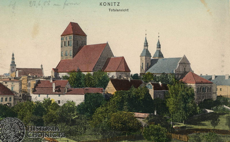 Widok na chojnickie kościoły. Ok1906 r.