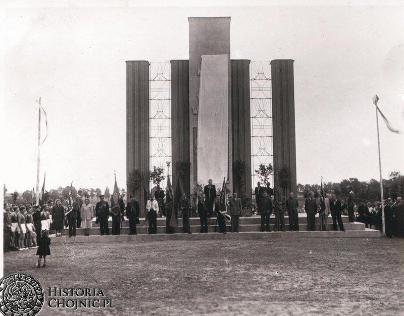 Uroczystość odsłonięcia pomnika. 22.07.1950 r.