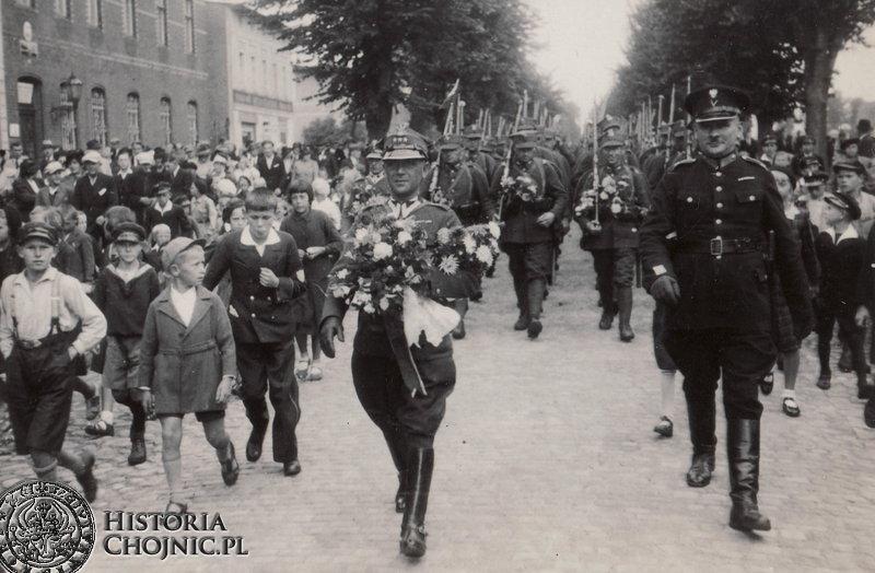 Batalion ON Czersk w drodze na pozycje w rejonie Chojnic. Sierpień 1939 r.