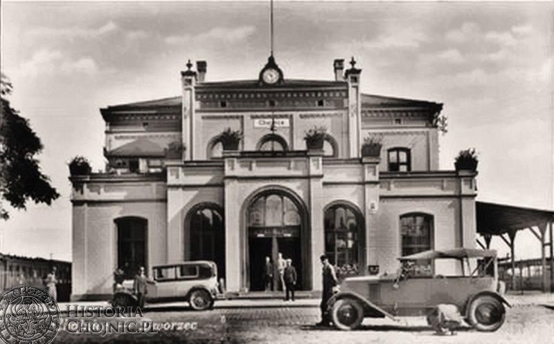 Chojnice dworzec - lata trzydzieste.