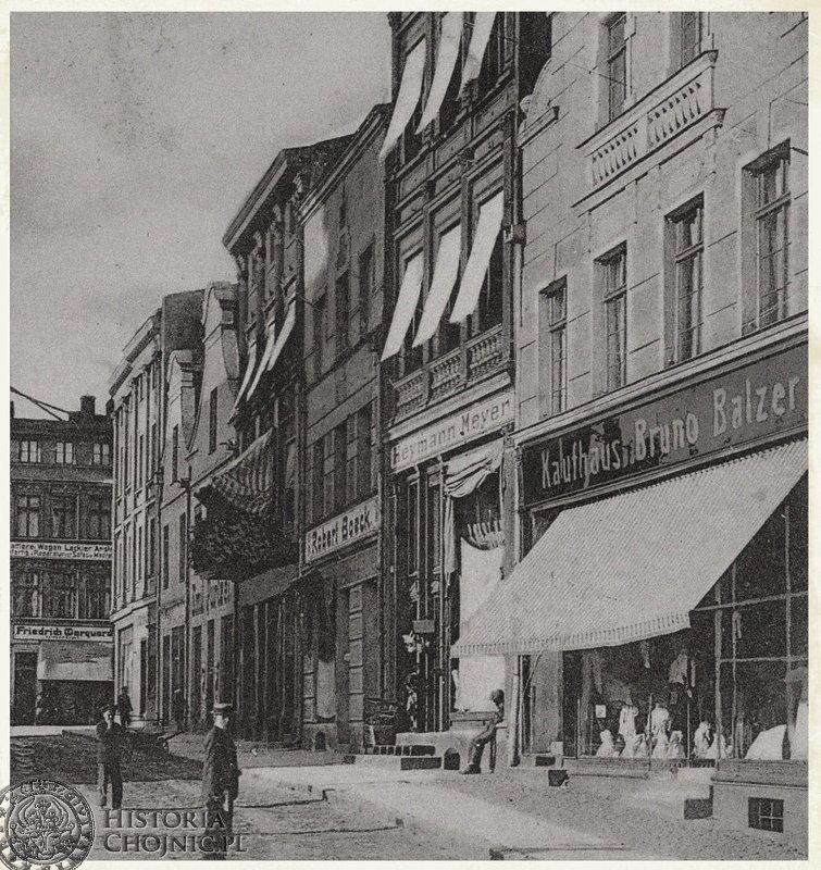 Kamienice przy rynku. Ok. 1905 r.