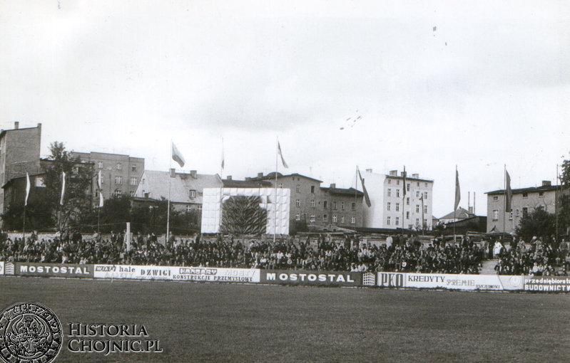 Stadion Chojniczanki. Poczatek lat 70.