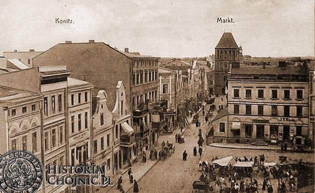 Dzień targowy. Ok. 1910 r.