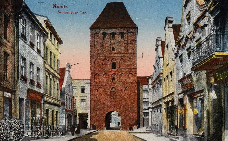 Brama Człuchowska. Widok z ok. 1915 r.