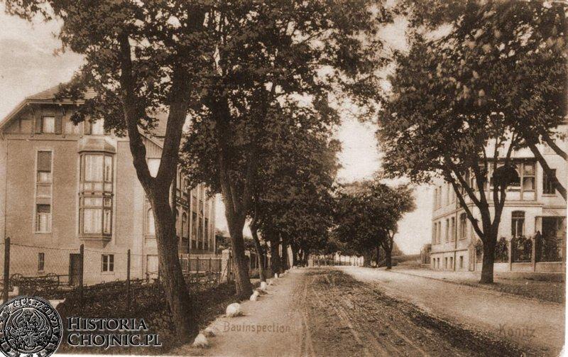 Widok na kamienice przy ob. ul. Człuchowskiej.