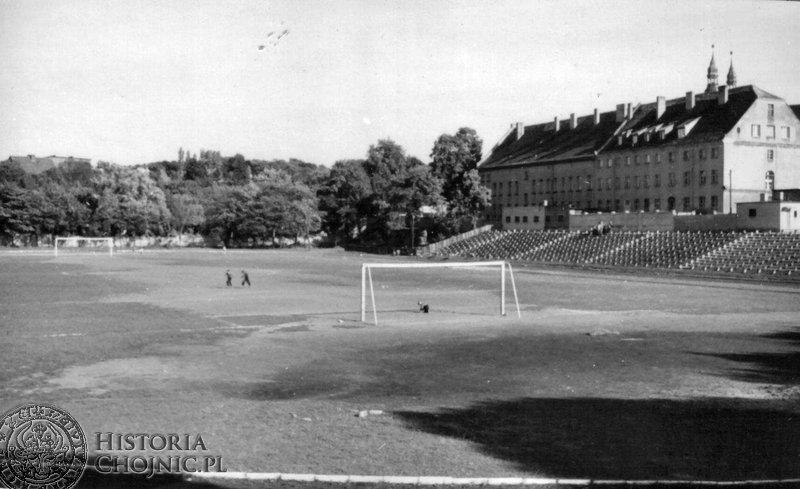 Widok na stadion lata 60/70.