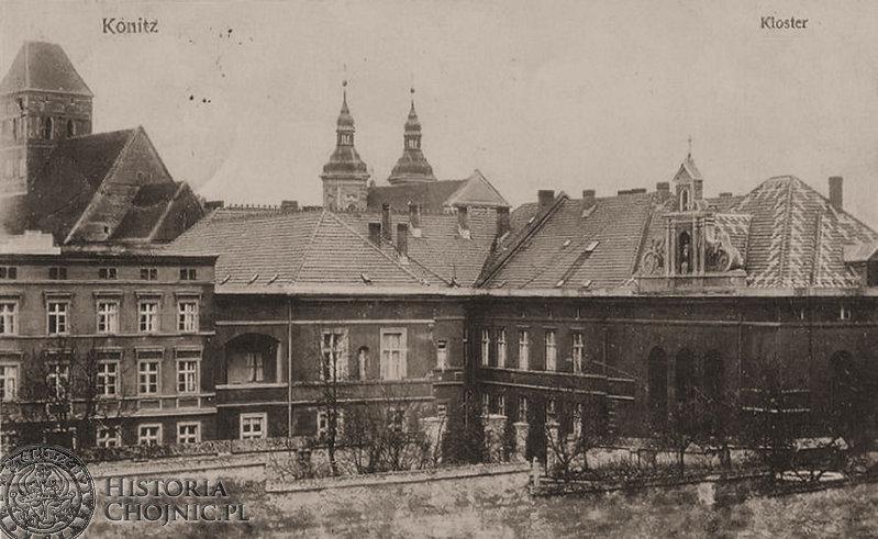 Zabudowania klasztorne przy zakładzie św. Boromeusza. Ok. 1910 r.