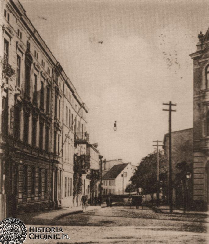Widok na ulicę Dworcową. Obecnie Piłsudskiego.