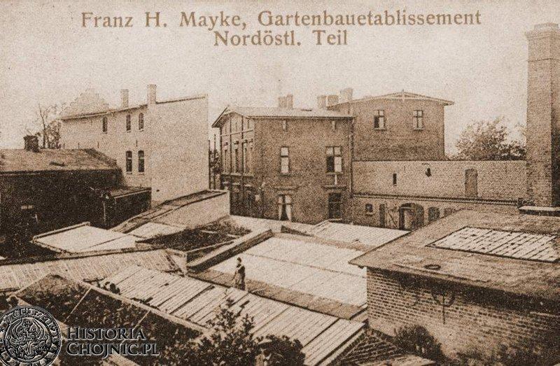 Zabudowania ogrodnika Mayke. Początek XX w.