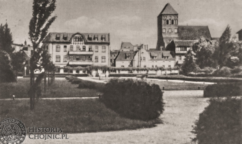 Planty w miejscu dawnego jeziora przy ul. Pierackiego. Ok 1930 r.