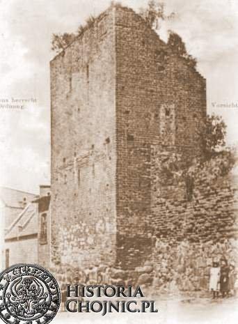 Ruiny baszty przy obecnej ul. Sukienników. Początek XX w.