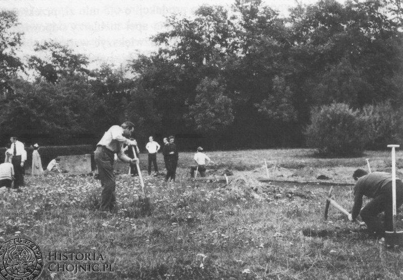 Sadzenie drzewek w czynie społecznym w Parku - 1000 lecia. L. 70.