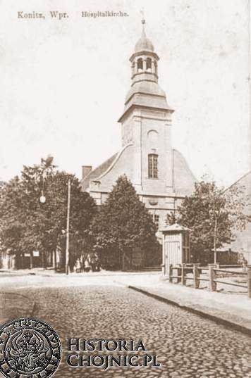 Kościół p.w. św Ducha. Zosta rozebrany w 1937 r.