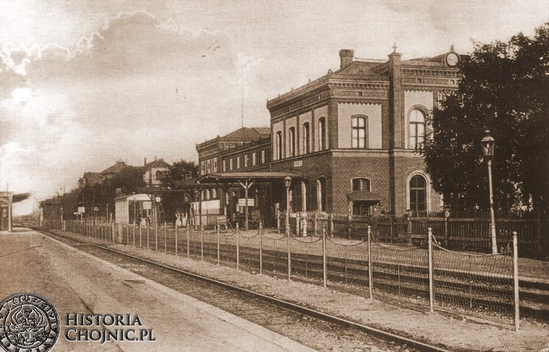 Dworzec kolejowy. Ok. 1918 r.